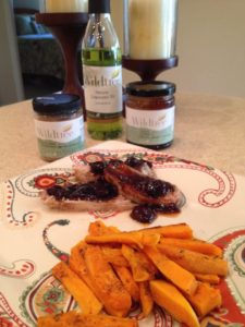 Jerk Pork Tenderloin with Rosemary Sauce