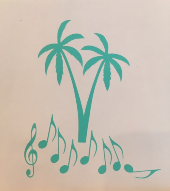 Palm notes decal