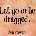 Let go or be dragged. ~ Zen Proverb