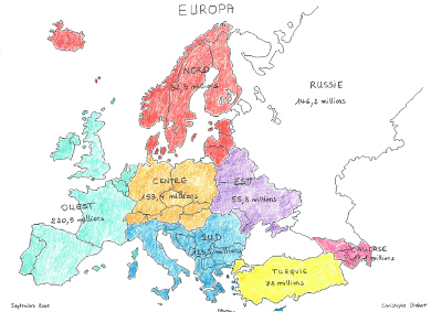 Un découpage de l'Europe