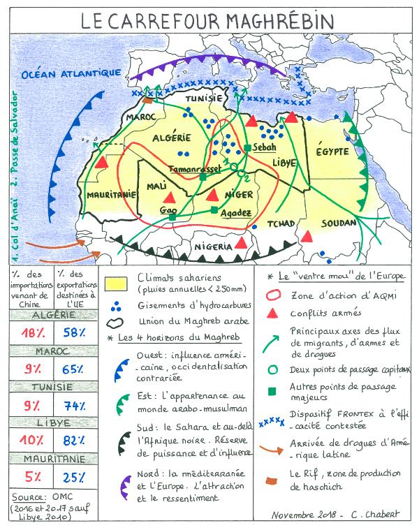Carte De Lafrique Maghreb.Le Maghreb Un Carrefour Entre L Europe Et L Afrique