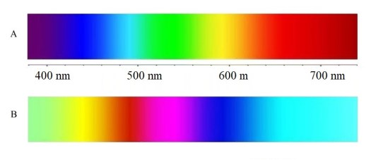 Color inversion light spectra qualia