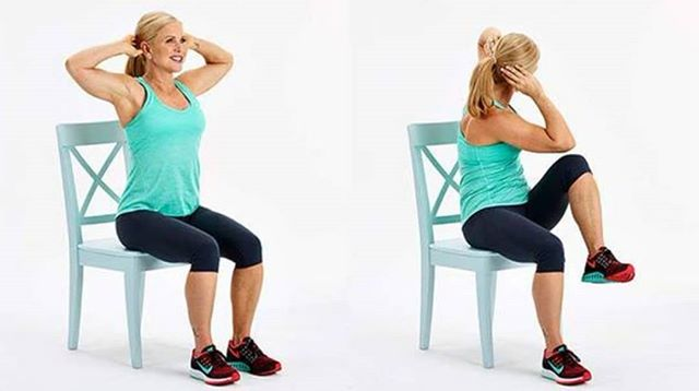 7 flat belly exercises can chair 4 - 5 Flat Belly Exercises That You Can Do In a Chair