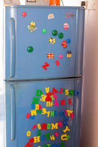 The Colorful, alphabetic fridge magnets