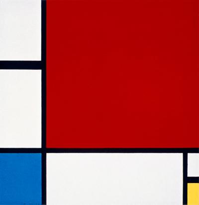 Мондриан. Композиция II в красном, синем и желтом, 1930 г