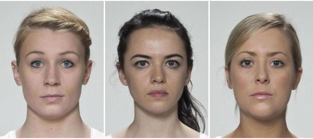три женских лица до усреднения