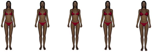 Модели, отличающиеся размером бюста
