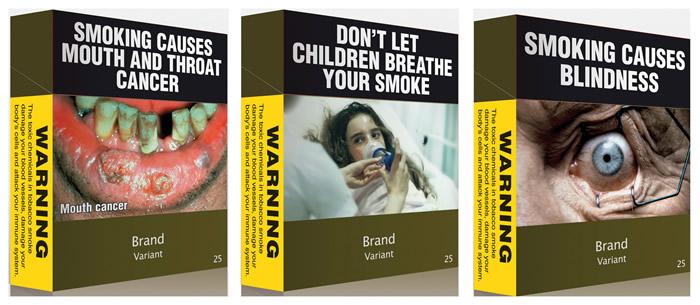 австралийские пачки сигарет