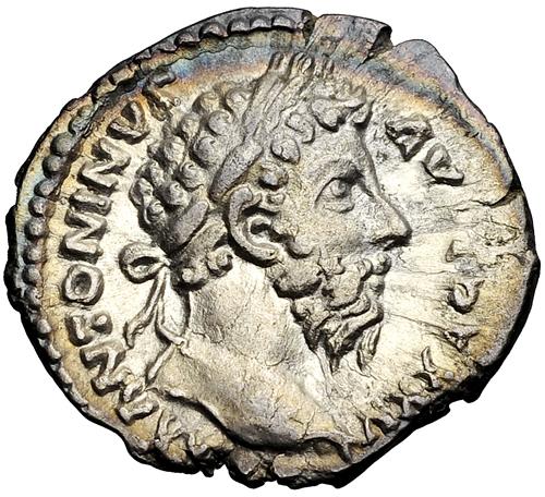 римская монета с изображением Марка Аврелия