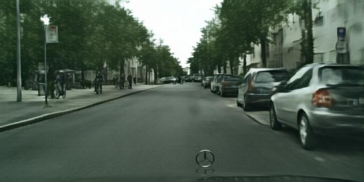 сгенерированные городские пейзажи