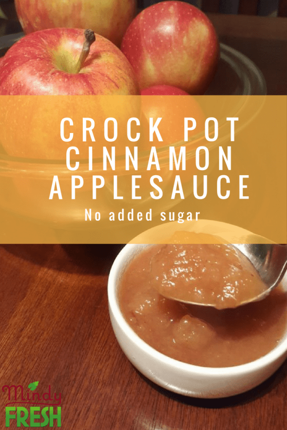 Crock pot cinnamon applesauce