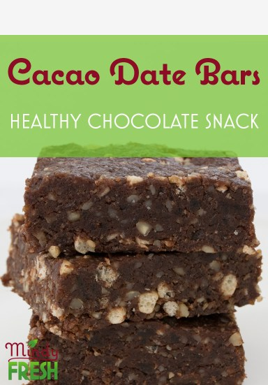Cacao Date Bars: Healthy Chocolate Snack