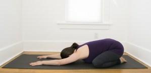 child's pose stretch