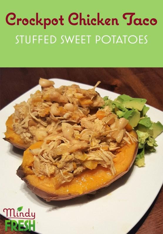 Chicken Taco Stuffed Sweet Potatoes