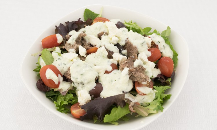 Gyro Salad with tzatziki dressing
