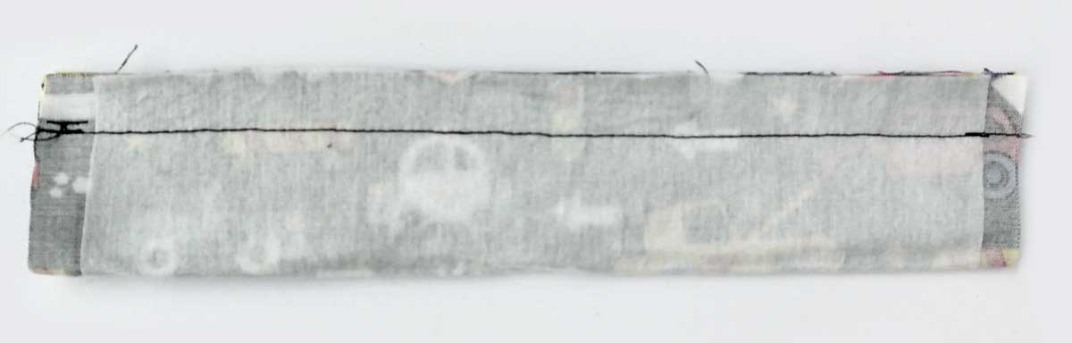 "Sewing Handle Piece at 1/2"" seam allowance. DIY Toy Car wallet carrier play mat tutorial"