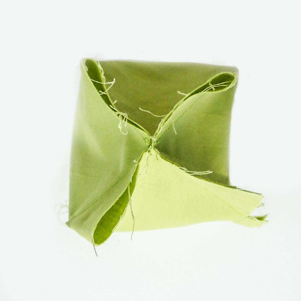 Bottom of DIY dice bag lining sewn. Dice Bag Pattern Free