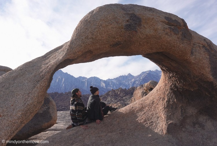 The Alabama hills at the base of Mt. Whitney in California