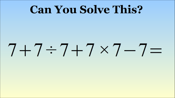 What Is 7 7 7 7 7 7 Equal To The Correct Answer Explained