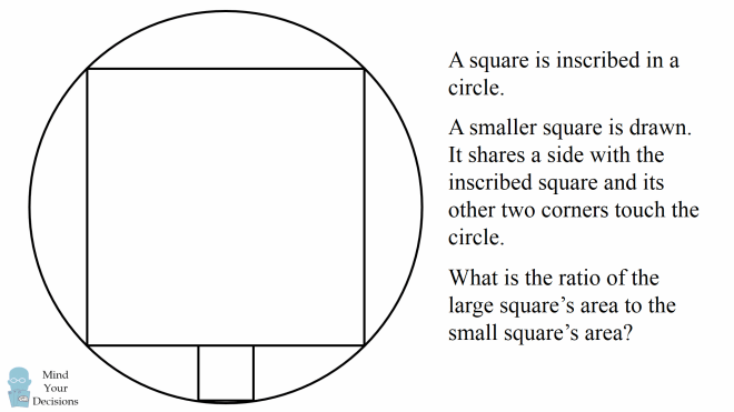 tricky interview question the ratio of areas of squares sunday