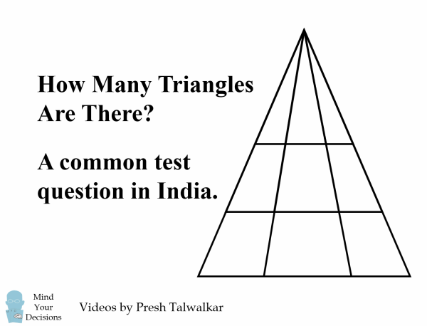how to find the number of triangles in a triangle