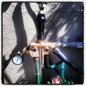 Steam punk irrigation setup!