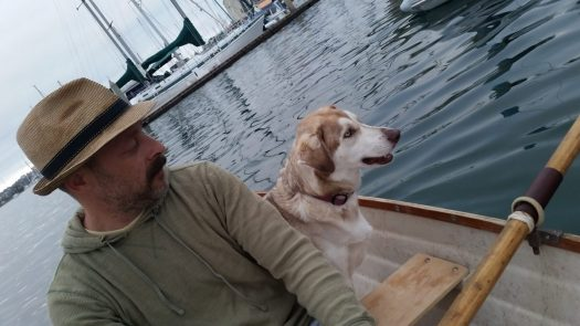 Sasha and Me Boating on the Fourth of July