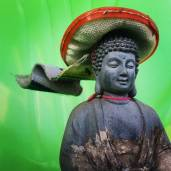 James behaving badly 09_Juan Buddha one of my garden patron saints_South meets East