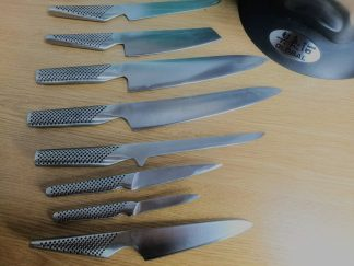 Global knives sharpened by Q-Sharpening