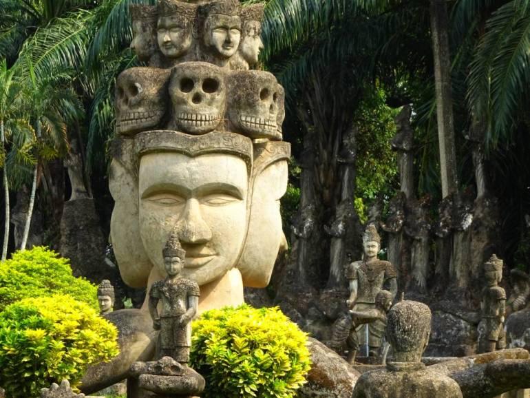 Totenköpfe Buddha Park Vientiane