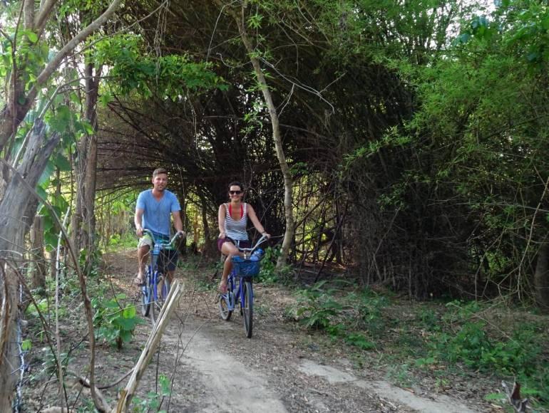 Fahrrad fahren auf Don Khon