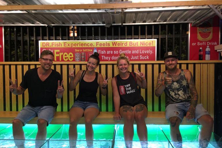 Siem Reap Treffen mit Freunden