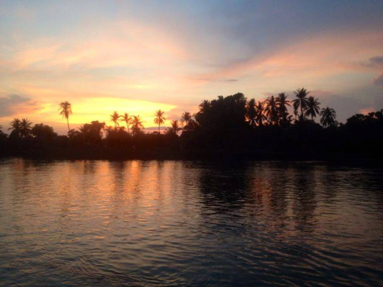 Sonnenuntergang Mekong Don Khon