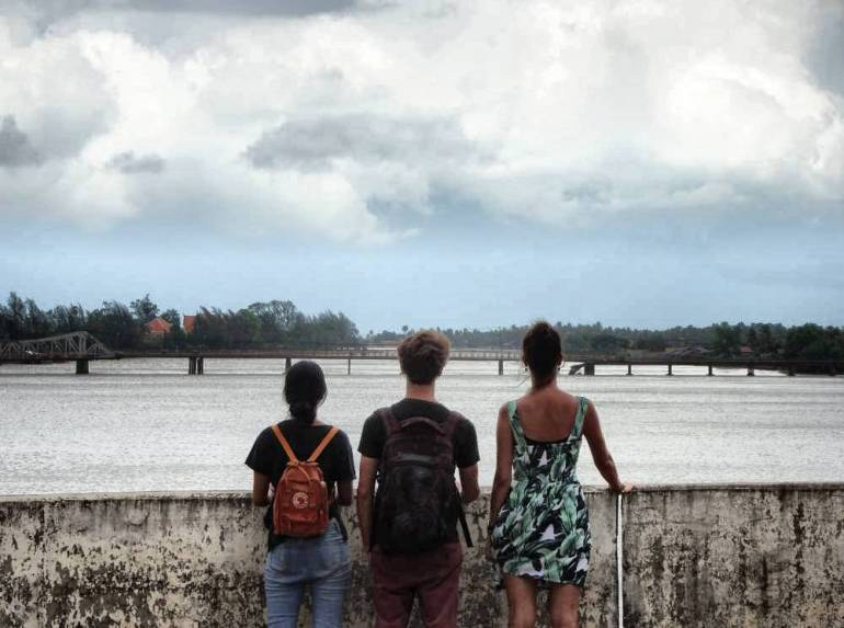 Aussicht auf Brücke Kampot