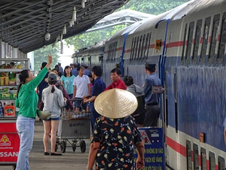 Bahnhof Saigon Abfahrt nach Mui Ne