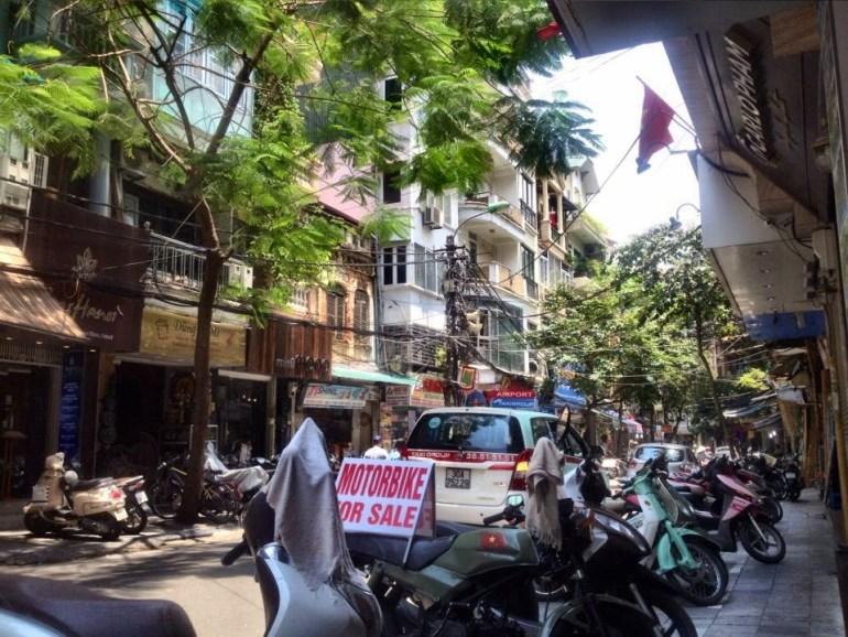 Aussicht auf Straße in Hanoi