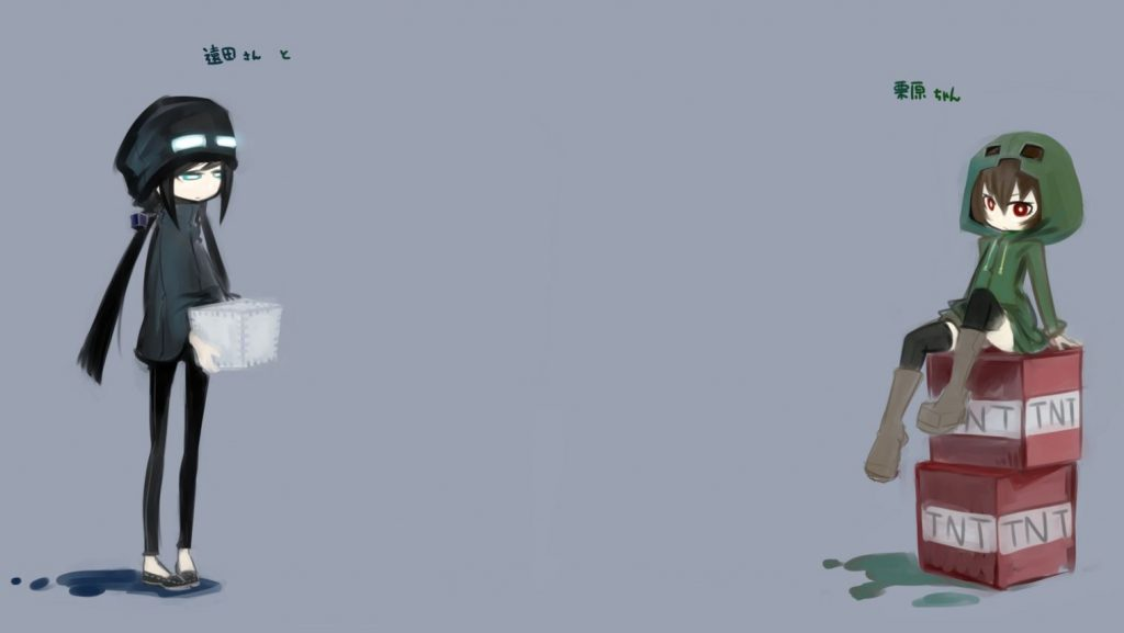 Minecraft Enderman X Creeper Girl