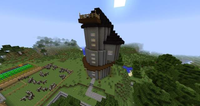 ᐅ Build Castle Tower / Lookout Tower in Minecraft - minecraft