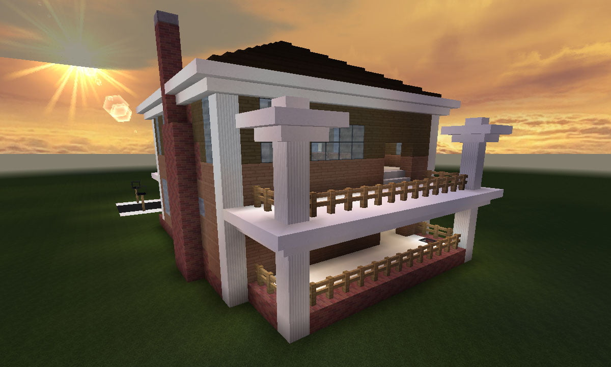 Minecraft Huis Country House 461 Inclusief Map En