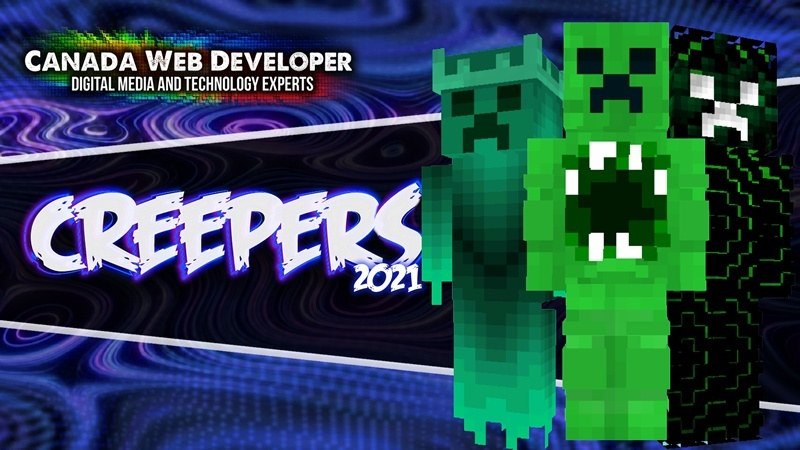 Aw man! The creeper's trying to steal all our stuff again! Grab your pick, shovel, and get a brand new Creeper skin to survive 2021. 11 HD (128px) skins including: - 1 free skin! - 10 Creeper inspired outfits 1 exclusive skin by: Dannny0117 Created and Published by: Dannny0117 + Canada Web Developer.