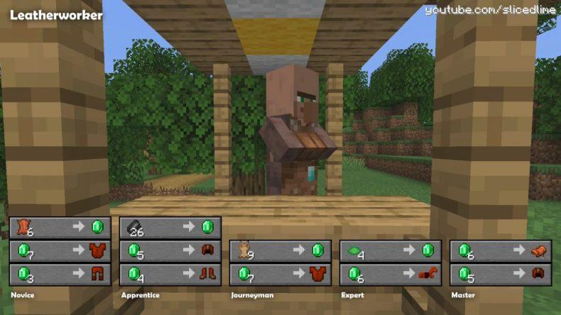 Comercio comercio aldeanos minecraft curtidor