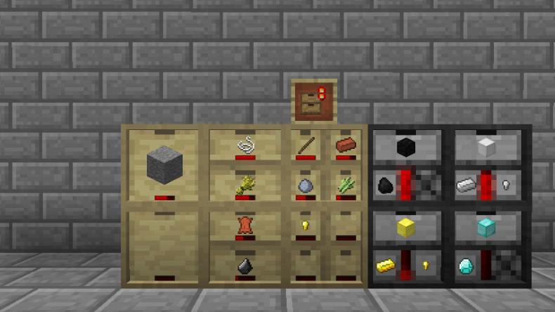 Barra de nivel de los cajones de almacenamiento