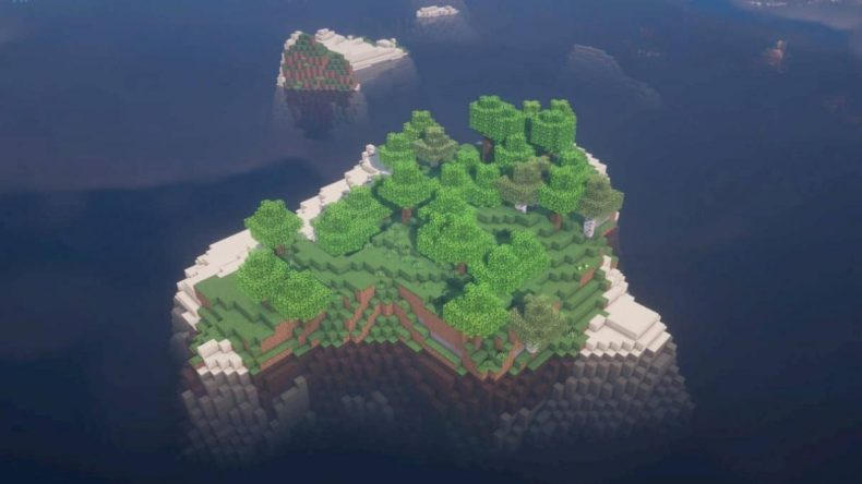 semilla minecraft 1.16 isla con árboles