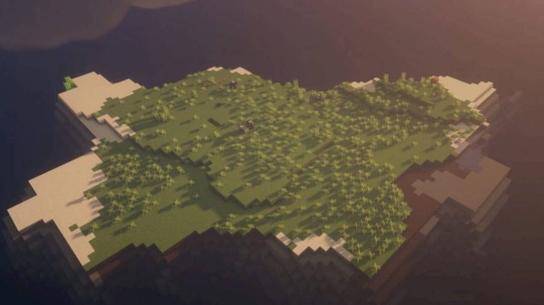 semilla minecraft 1.16 árbol sin árboles