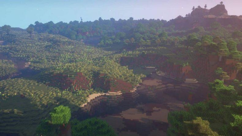 semilla de minecraft 1.16 llanura de girasol junto al río