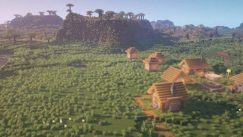semilla minecraft 1.16 savannah village