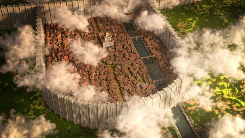 Distrito Shiganshina Attack on Titan Map Minecraft