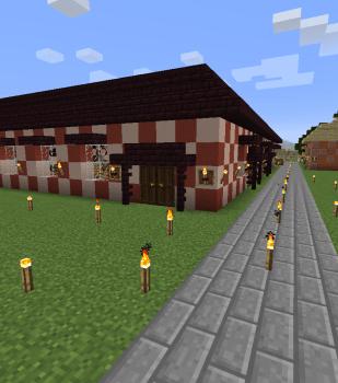 拠点予定地に倉庫を建設