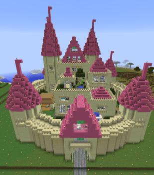 城内庭園を作ってお城完成!