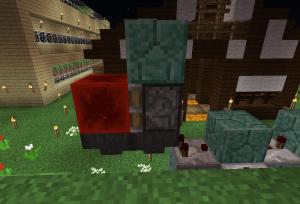 レッドストーンブロック、粘着ピストン、ブロック